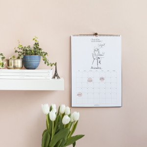 Calendario 2017 pared