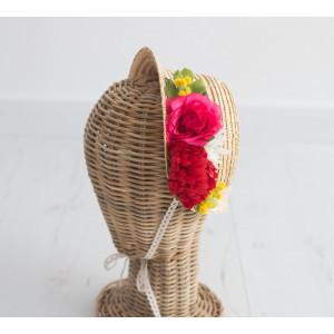 Capota con flores de colores