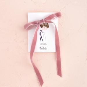 Lazo terciopelo rosa palo