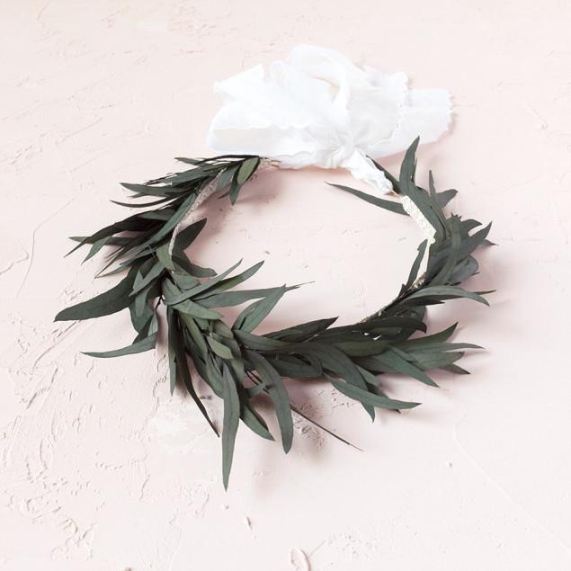 Corona eucalipto novia