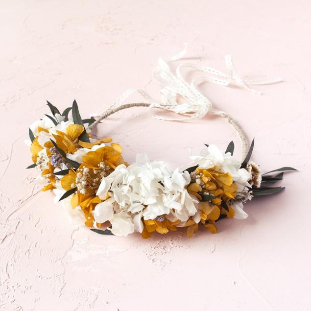 Corona Maddie hortensias