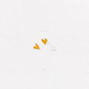 Pendientes Corazón amarillos