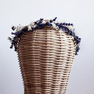 Corona de lavanda