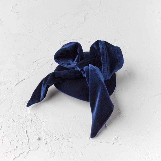 Tocado terciopelo azul Donna