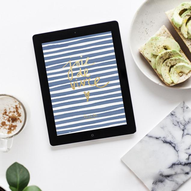 Joie de Vivre Wallpaper Tablet
