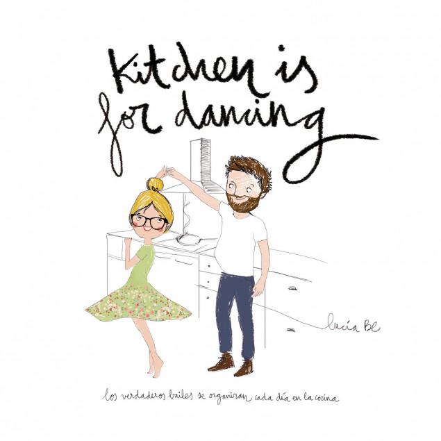 Lámina bailar en la cocina