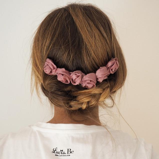 Peineta de muselina rosa viejo