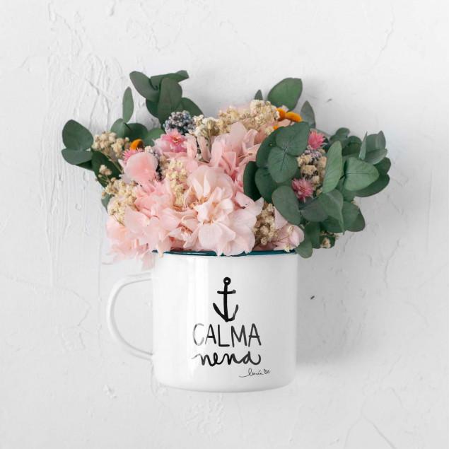 Taza con flores